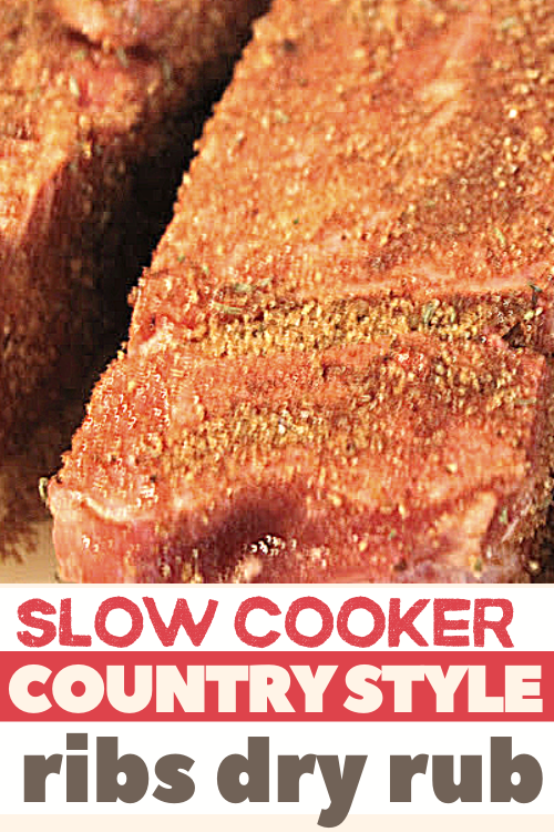 Slow cooker country style ribs dry rub recipe