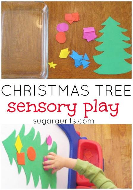 Christmas tree sensory activity