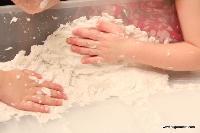 How to make fake snow with ivory soap and toilet paper