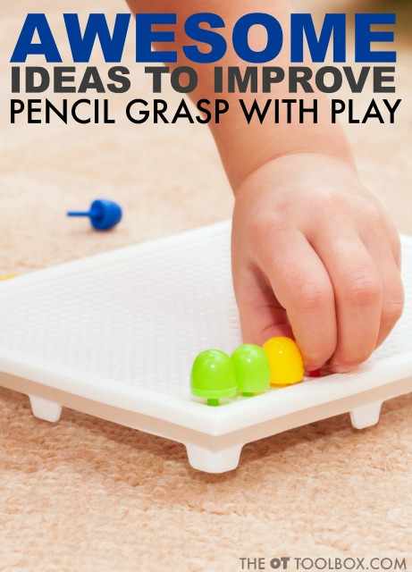 Try these awesome activities to improve pencil grasp through play and fine motor development.