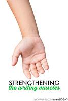 Strengthening activities for fine motor skills like handwriting activities