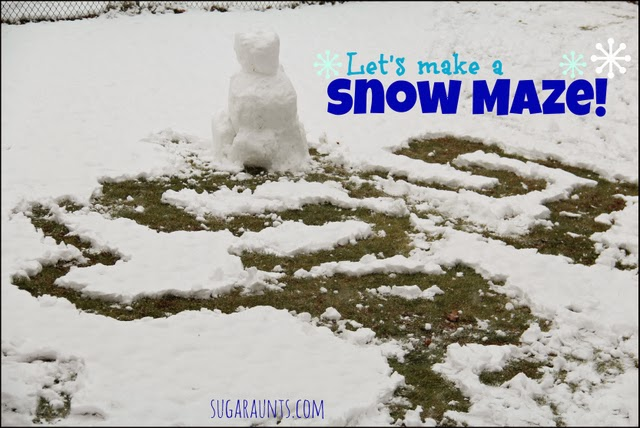 Snow Maze Outdoor Activity for Kids