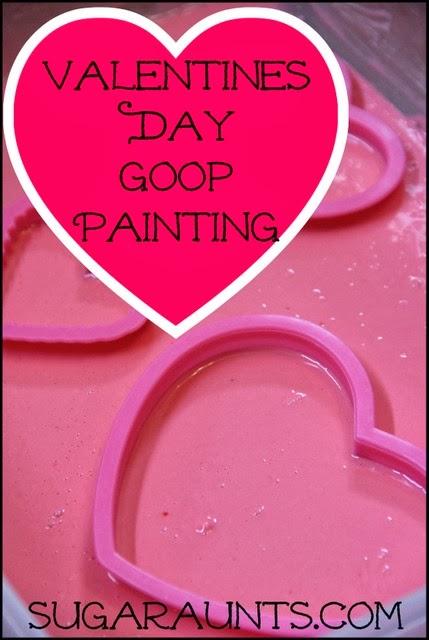 Valentine's Day Goop Painting