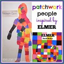 Elmer the elephant preschool craft