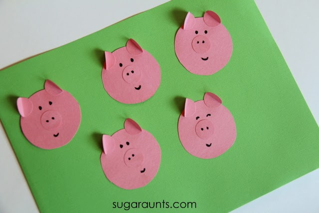 Craft idea for This Little Piggy finger play.