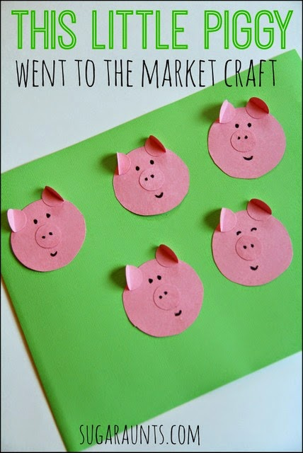"""""""This Little Piggy Went to the Market"""" craft for kids"""