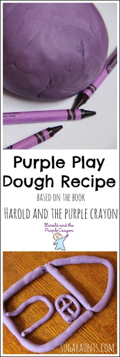 Harold and the Purple Crayon activity with purple play dough