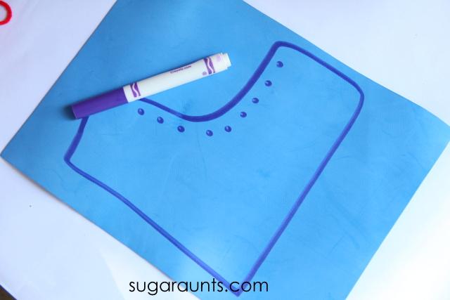 scissor skill craft shoe craft
