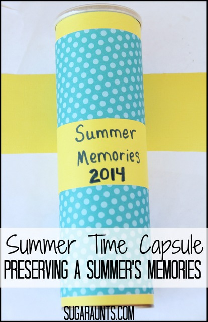 Preserve summer memories with a time capsule craft for kids