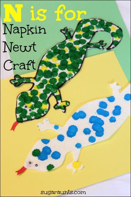 Newt paper towel craft