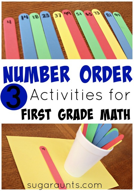 sequential order activity with numbers