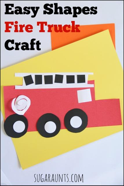 Fire truck craft for kids