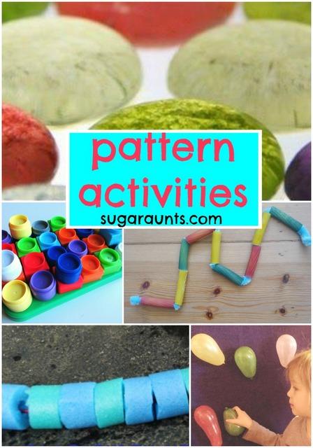 Pattern activities for Kindergarten, beginner math