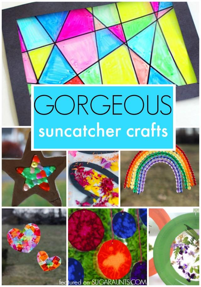 Gorgeous Suncatcher crafts for kids