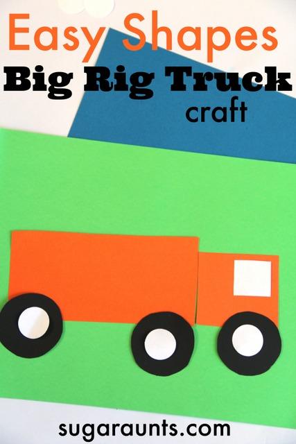 Big rig truck craft