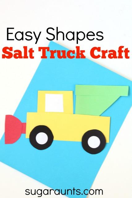 Salt truck craft for kids