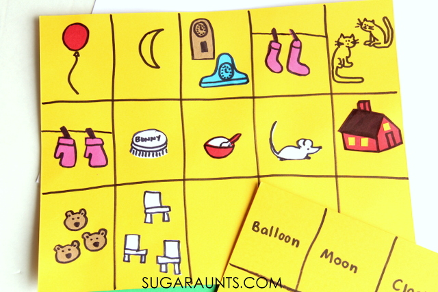 Memory game inspired by the book, Goodnight Moon