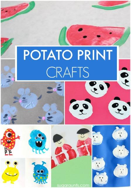 potato print craft