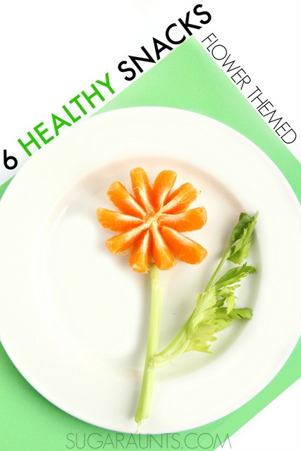 Flower snacks for cute healthy foods for kids