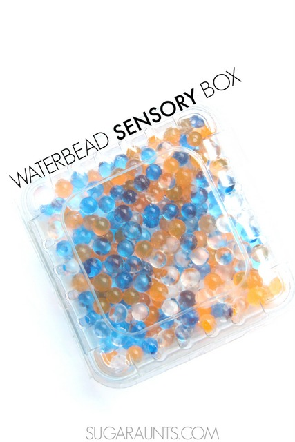 waterbead sensory bin