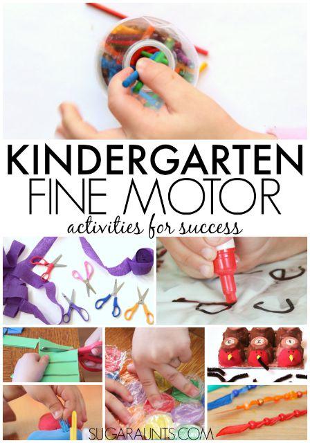 Kindergarten Fine Motor activities