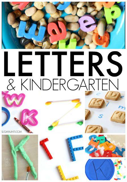 Kindergarten Letter activities for letter learning