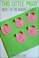 This little piggy nursery rhyme kindergarten craft