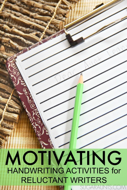 letter formation practice with motivating writing activities