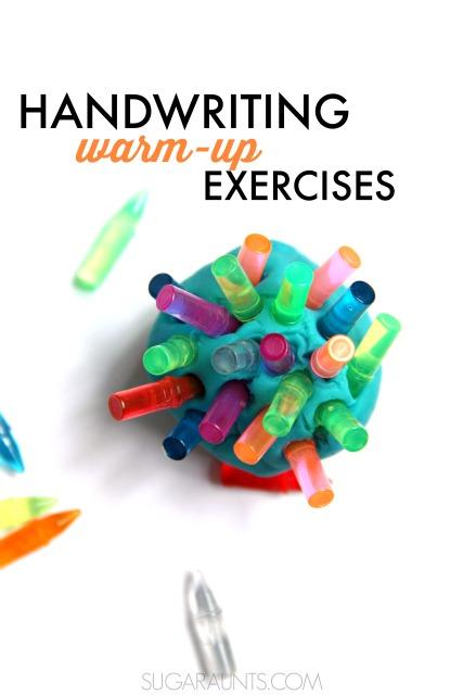 play dough handwriting warm up activity