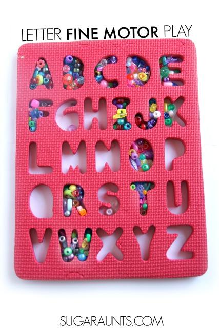 Letter formation alphabet puzzle