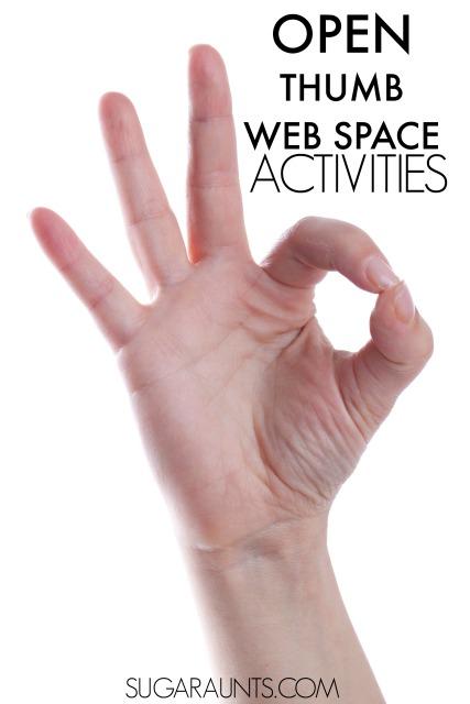 open thumb web space activities