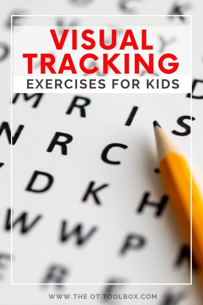 visual tracking exercises