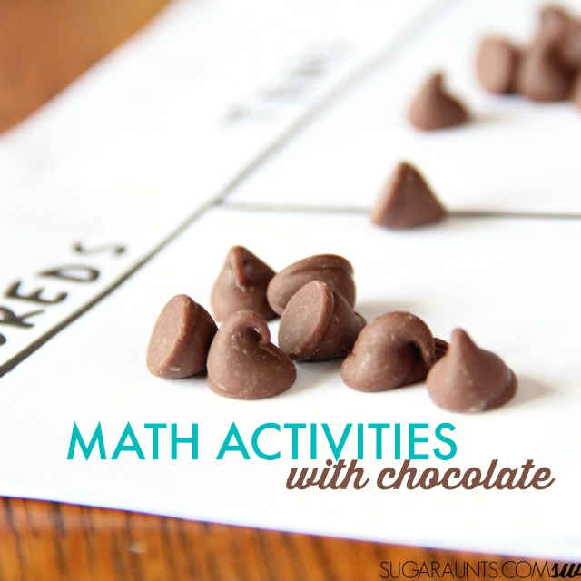 Regrouping math with chocolate chips