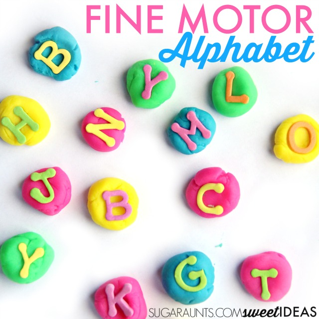 Try this fine motor activity with letters to practice so many hands-on learning activities with kids of all ages: spelling words, sight words, and letter identification while working on fine motor skills like intrinsic muscle strength.