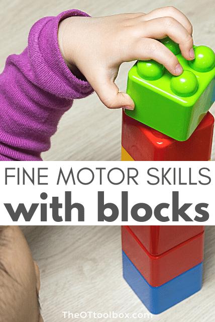 Fine motor skills building blocks for kids
