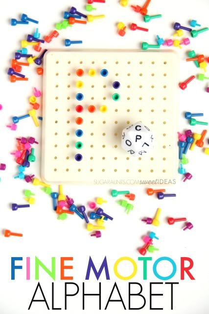 letter formation peg board