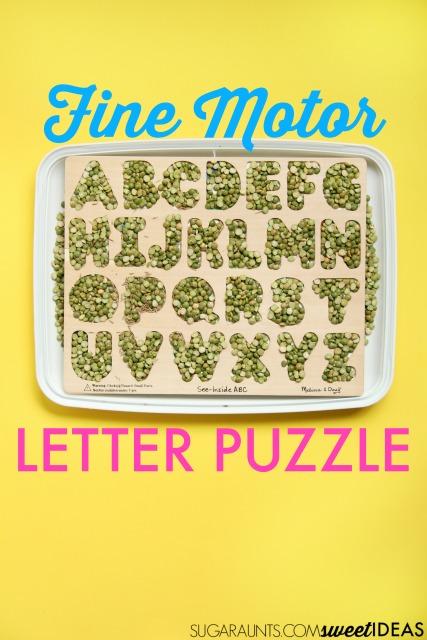 letter puzzle activity