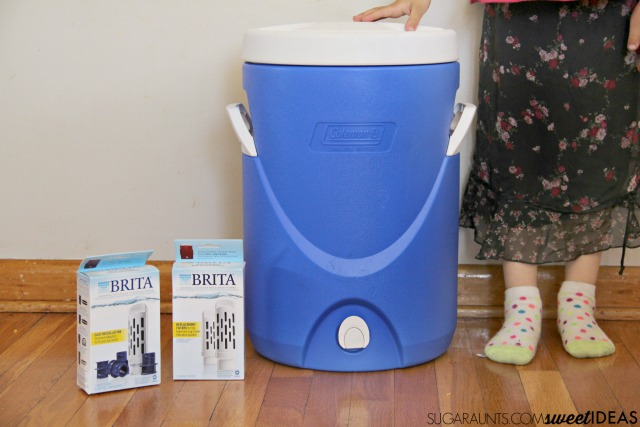 Weekend Kit for the Sports Team Family with a Brita Jug Filter system for filtered water