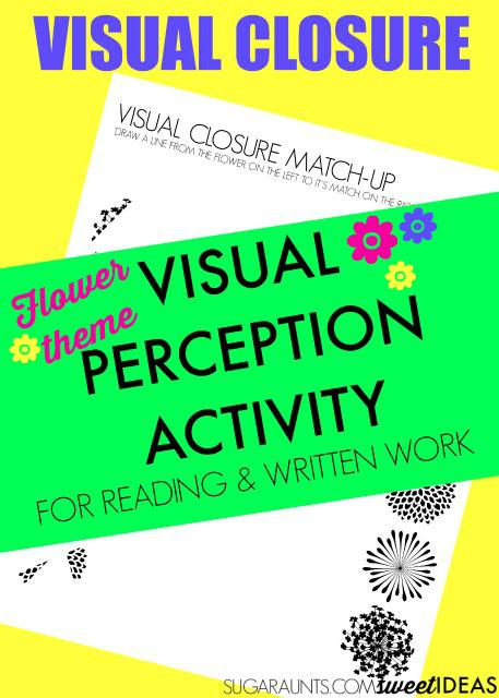 Flower visual closure worksheets