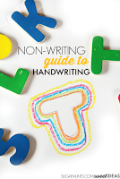 use cookie cutters to work on handwriting