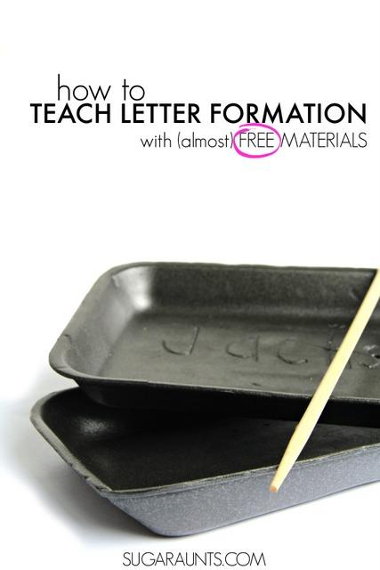 Letter Formation in a Foam Tray