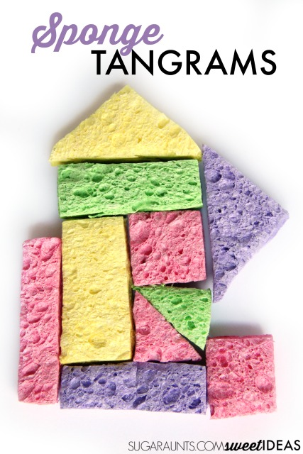 Sponge tangrams for form constancy