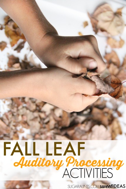 fall leaf activities for auditory processing