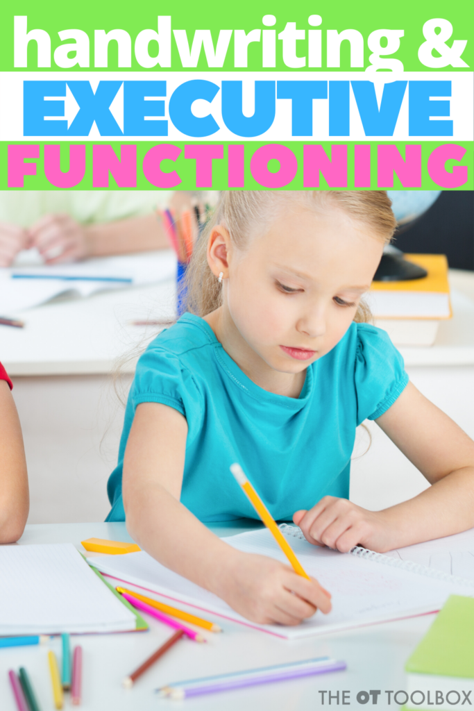 Handwriting and executive functioning skills are connected in many ways. Here are tips and strategies to improve executive function skills and writing.