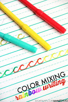 color mixing letter formation activity