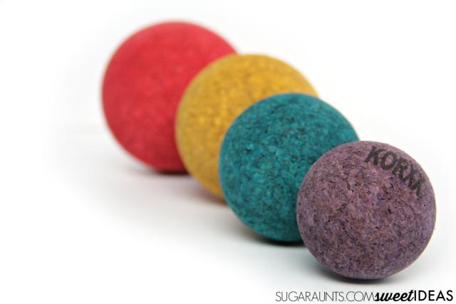 Spherical and cylindrical grasp development with KORXX cork building blocks