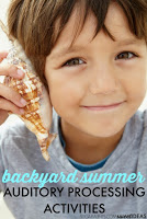 Auditory processing sensory ideas for backyard summer sensory play, perfect for sensory diet ideas for kids.