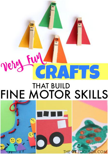 Fun crafts that build fine motor skills