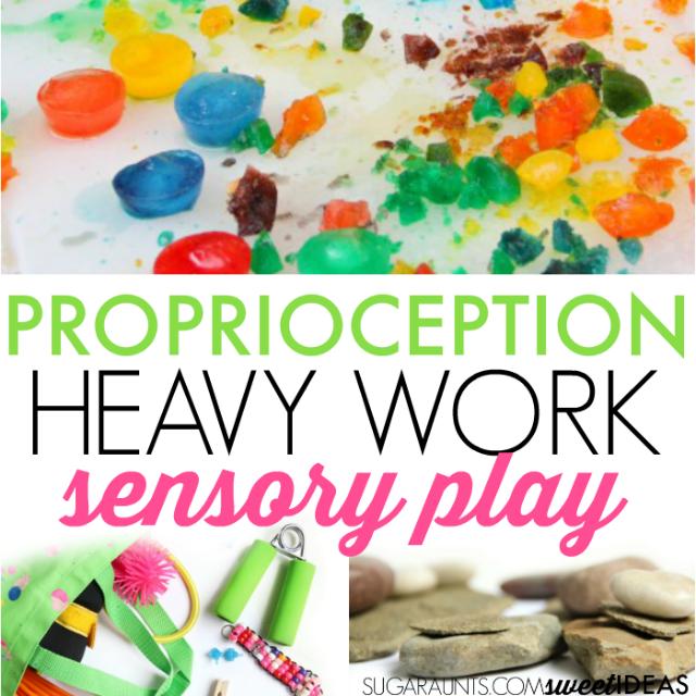 Proprioception sensory play ideas for kids