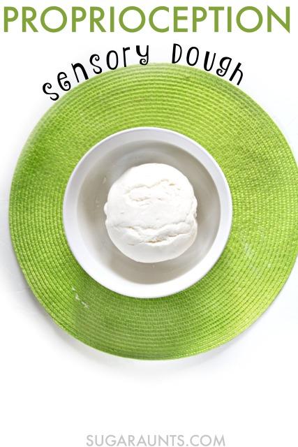 proprioception sensory dough marshmallow